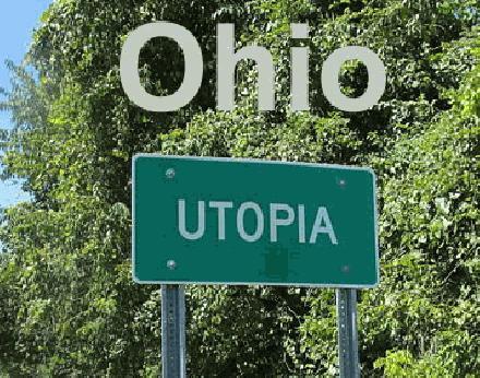 Utopia gemeentebord Ohio