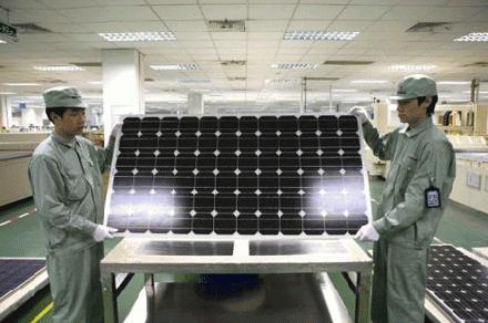 Productie zonnepanelen