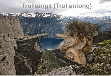 Trolltunga en Trol