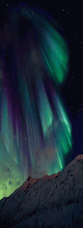 De mysterieuze schoonheid van het noorderlicht, de mysterieuze schoonheid van het poollicht