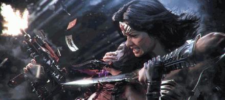 005 fighting Wonder Woman