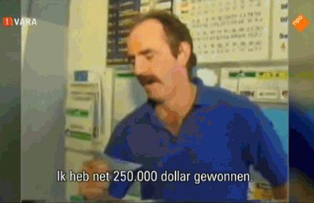man wint voor de tweede keer 250000