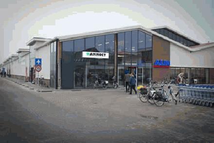 Winkelcentrum in de polder