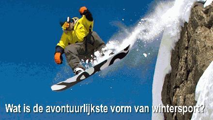 Wat is de avontuurlijkste vorm van wintersport