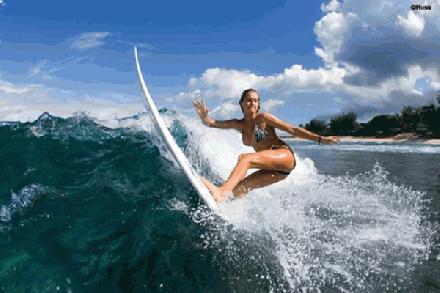 De mooiste surfstranden, de mooiste surf babes