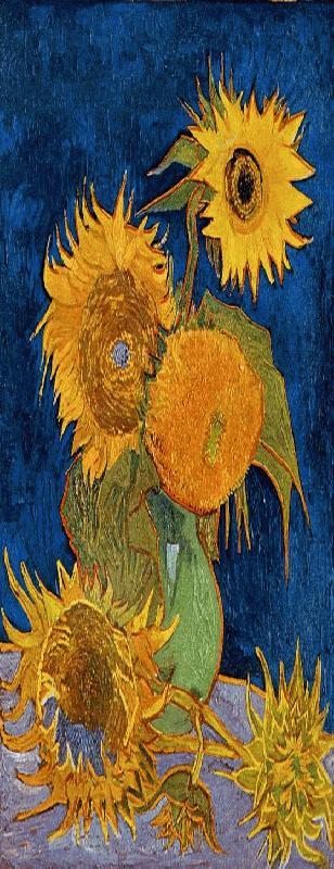 006 Vijf zonnebloemen in een vaas
