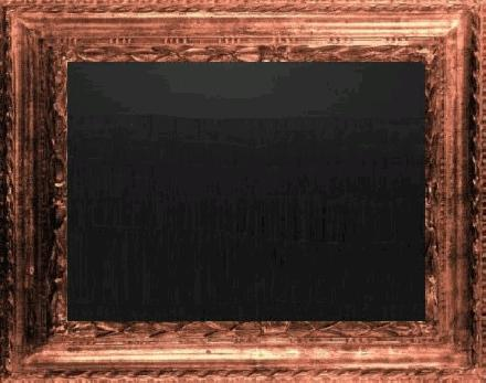 Goedkoop schilderij met lijst met kliederwerk