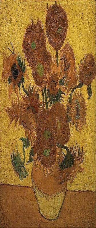 004 Vaas met vijftien zonnebloemen