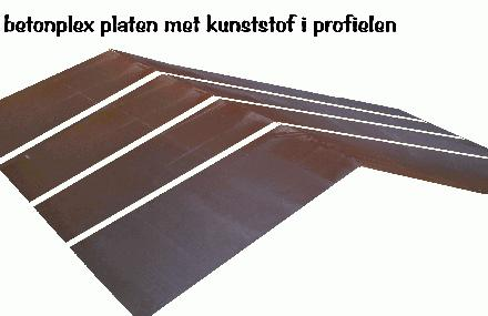Betonplex platen met kunststof i profielen
