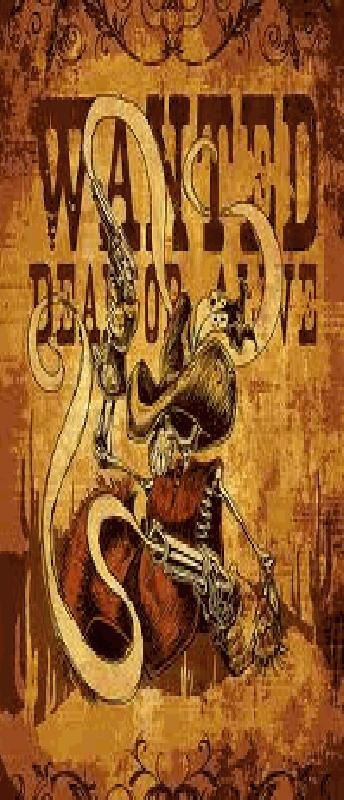 Wanted Dead Or Alive Pamhplet - Gezocht Dood Of Levend Brochure