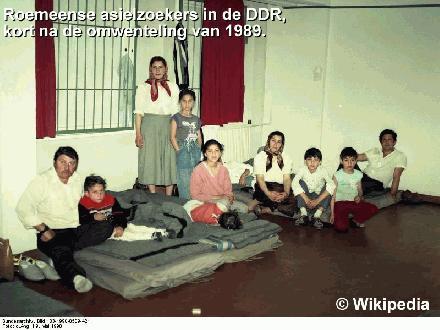 Roemeense asielzoekers in de DDR, kort na de omwenteling van 1989
