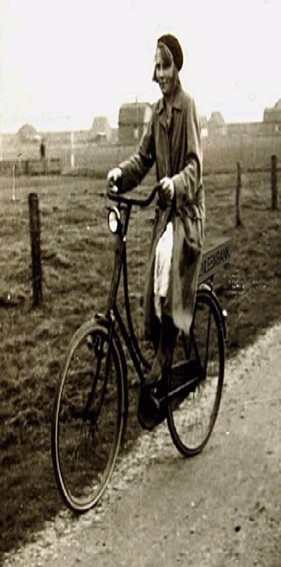Kassiëre op de fiets