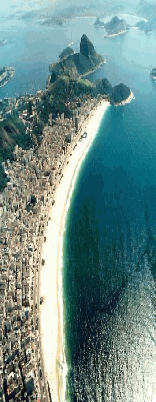 Eindeloos strand in Rio de Janeiro