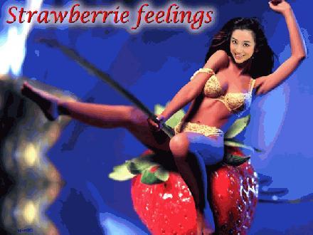 Chinees aardbeien meisje