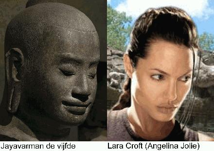 Jayavarman 5 en Anglina Jolie