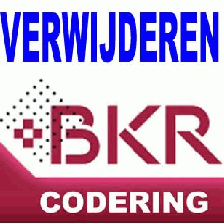 bkr codering verwijderen