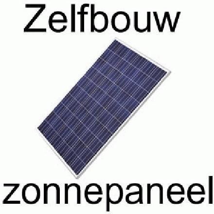 Zelfbouw zonnepaneel