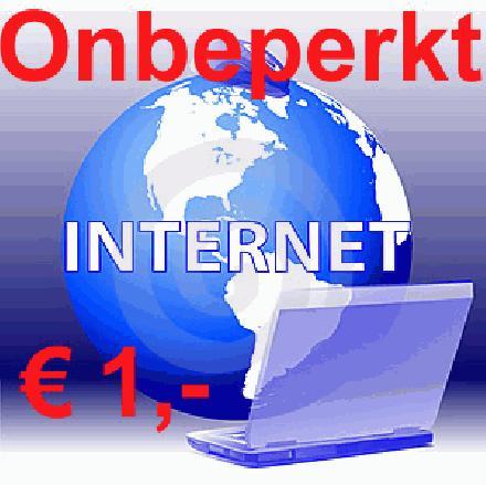 Onbeperkt internet voor 1 euro