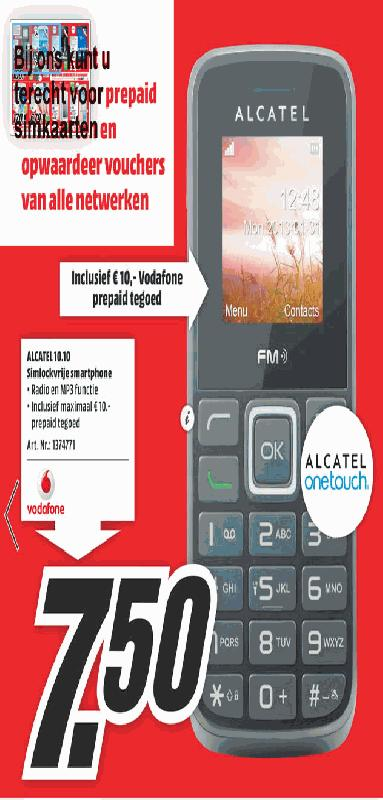 Folder aanbieding Mediamarkt ALCATEL 1010
