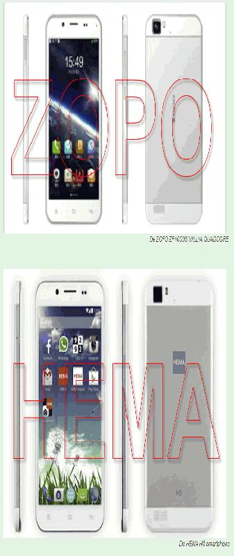 ZOPO EN HEMA smartphone
