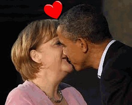 Barak Obama loves Angela Merkel