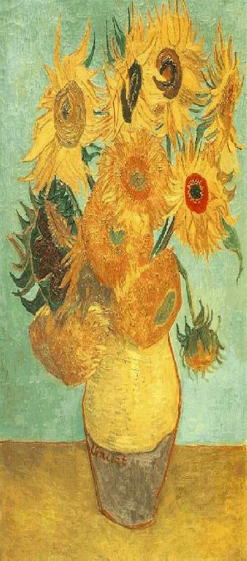 003 Vaas met vijftien zonnebloemen