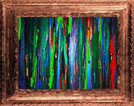 Goedkoop schilderij met lijst zwart geschilderd