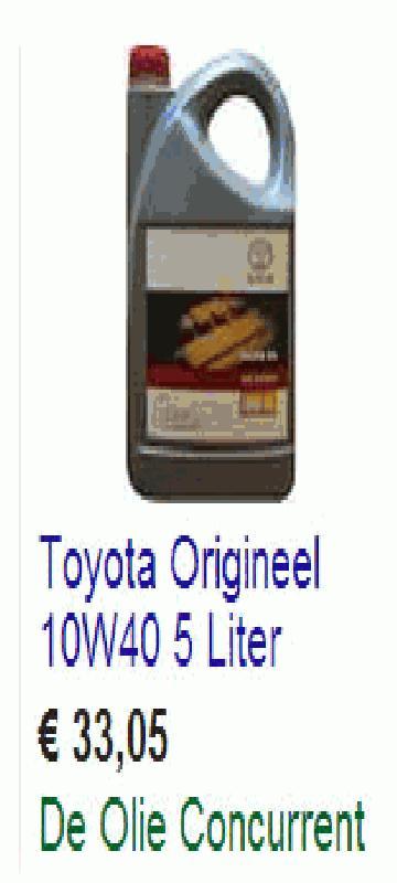 Toyota motorolie