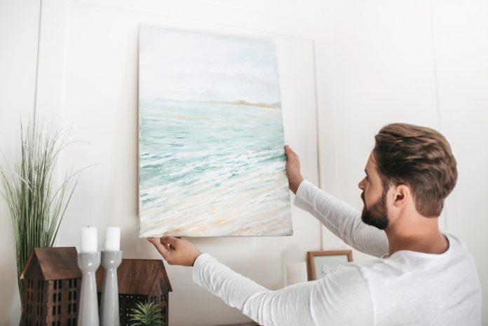 canvas aan de muur