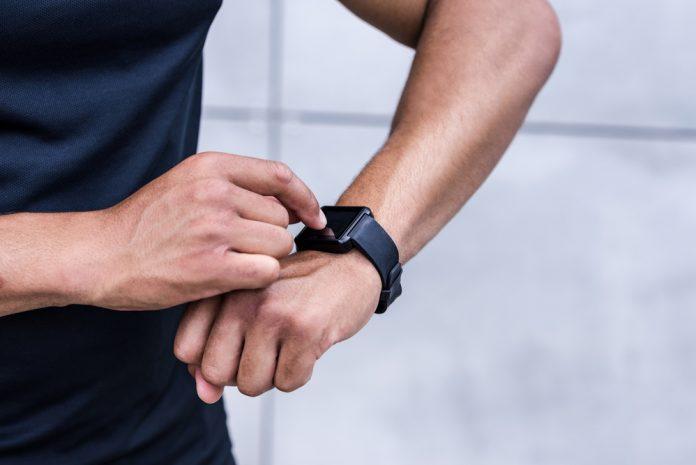 man met smartwatch